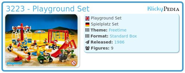 Playmobil 3223 - Playground Set