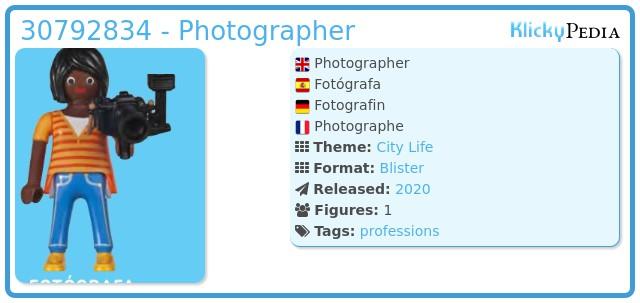 Playmobil 30792834 - Photographer