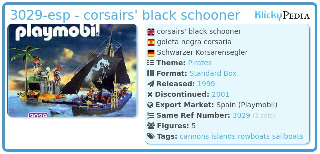 Playmobil 3029-esp - corsairs' black schooner