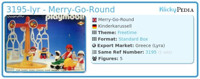 Playmobil 3195-lyr - Merry-Go-Round