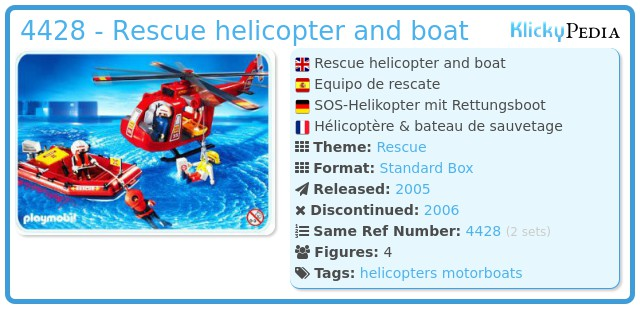 Playmobil 4428 - Rescue helicopter and boat