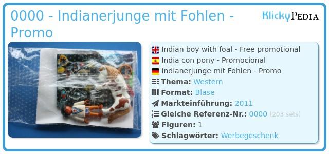 Playmobil 0000 - Indianerjunge mit Fohlen - Promo