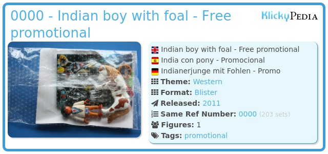 Playmobil 0000 - Indian boy with foal - Free promotional