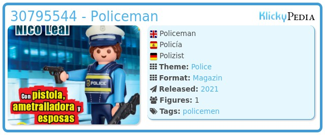 Playmobil 30795544 - Policeman
