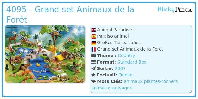 Playmobil 4095 - Grand set Animaux de la Forêt