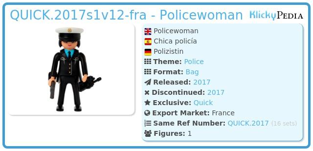 Playmobil QUICK.2017s1v12-fra - Policewoman