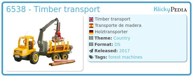 Playmobil 6538 - Timber transport