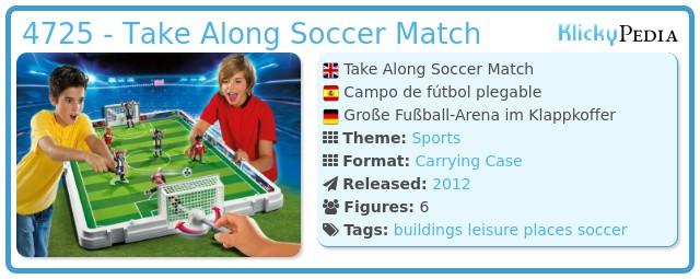 Playmobil 4725 - Take Along Soccer Match
