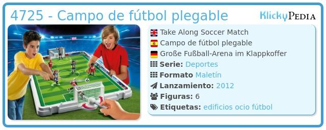 Playmobil 4725 - Campo de fútbol plegable