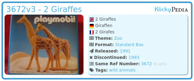 Playmobil 3672v3 - 2 Giraffes