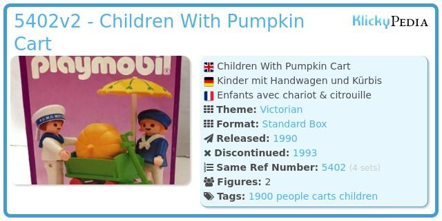 Playmobil 5402v2 - Children With Pumpkin Cart