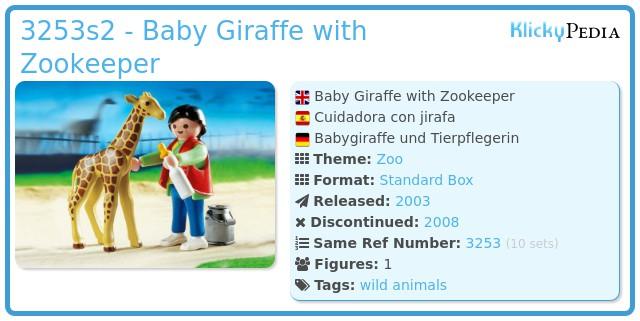 Playmobil 3253s2 - Baby Giraffe with Zookeeper