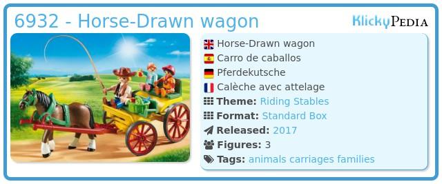 Playmobil 6932 - Horse-drawn wagon