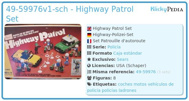 Playmobil 49-59976v2-sch - Highway Patrol Set