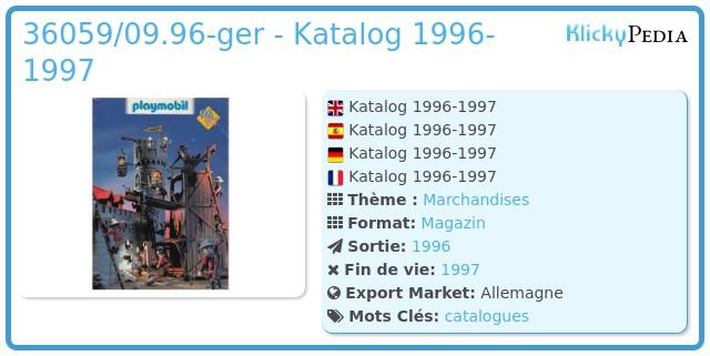 Playmobil 36059/09.96-ger - Katalog 1996-1997