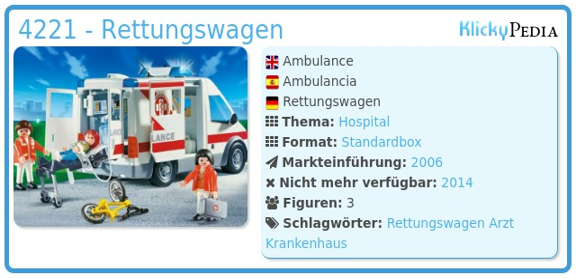 Playmobil 4221 - Rettungswagen