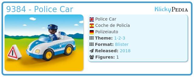 Playmobil 9384 - Police car