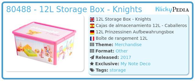Playmobil 80488 - 12L Storage Box - Knights