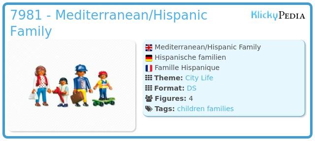 Playmobil 7981 - Mediterranean/Hispanic Family
