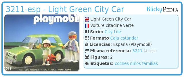Playmobil 3211-esp - Light Green City Car