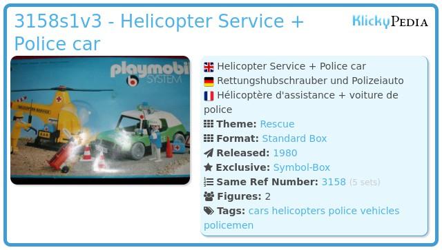 Playmobil 3158s1v2 - Helicopter Service + Police car