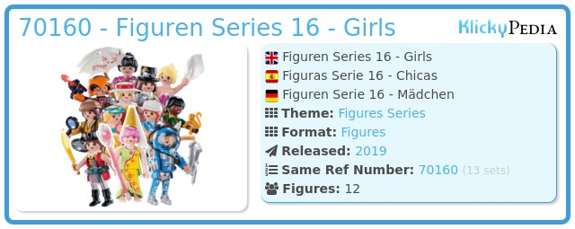 Playmobil 70160 - Figures Series 16 - Girls