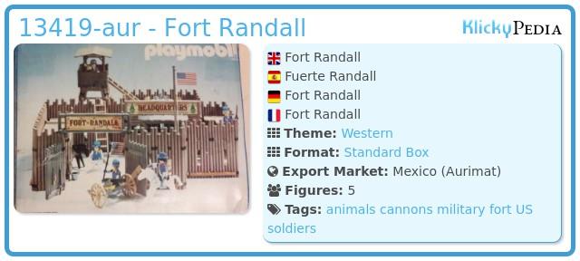 Playmobil 13419-aur - Randall fort