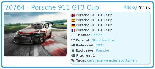 Playmobil 70764-ger - Porsche 911 GT3 Cup
