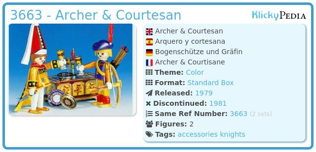 Playmobil 3663 - Archer & Courtesan