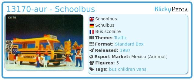 Playmobil 13170-aur - Schoolbus