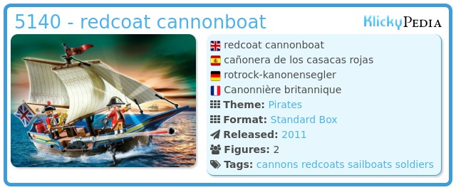 Playmobil 5140 - redcoat cannonboat