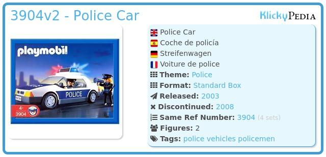 Playmobil 3904v2 - Police Car