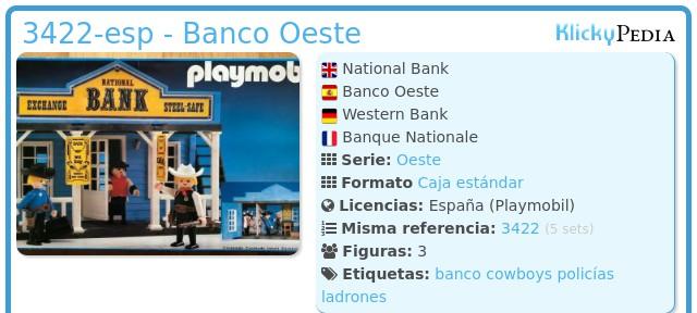 Playmobil 3422-esp - Banco Oeste