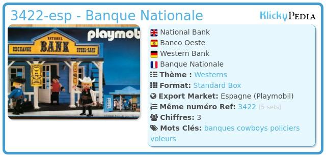Playmobil 3422-esp - Banque Nationale