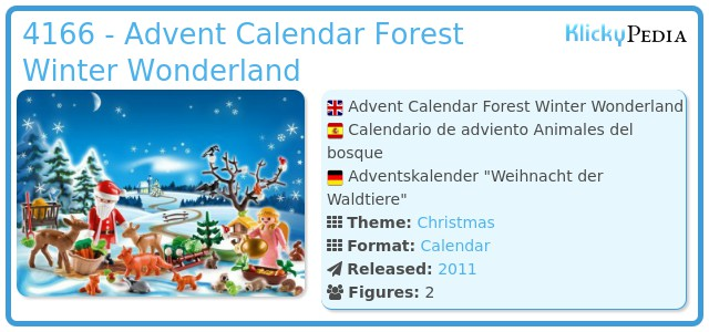 Playmobil 4166 - Advent Calendar Forest Winter Wonderland