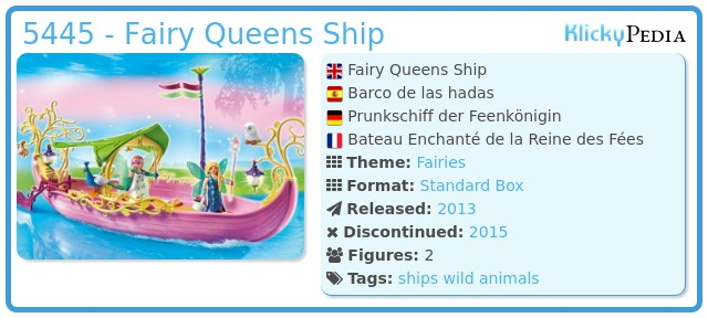 Playmobil 5445 - Fairy Queens Ship
