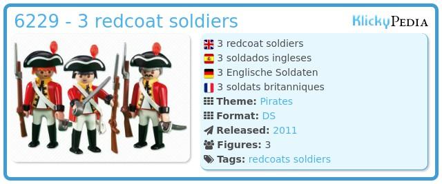 Playmobil 6229 - 3 redcoat soldiers