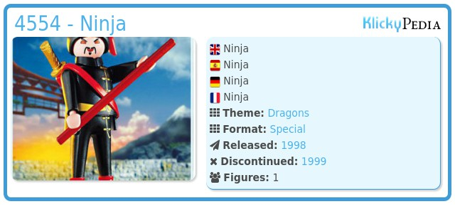 Playmobil 4554 - Ninja