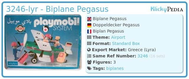 Playmobil 3246-lyr - Biplane Pegasus