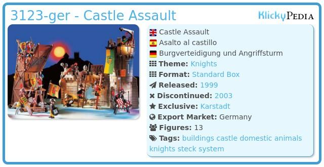 Playmobil 3123-ger - Castle Assault
