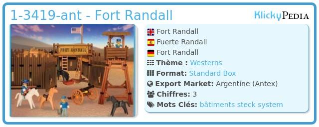 Playmobil 1-3419-ant - Fort Randall