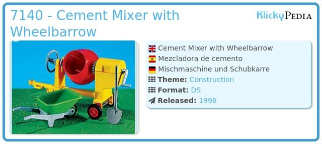 Playmobil 7140 - Cement Mixer with Wheelbarrow