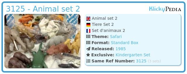 Playmobil 3125 - Animal set 2