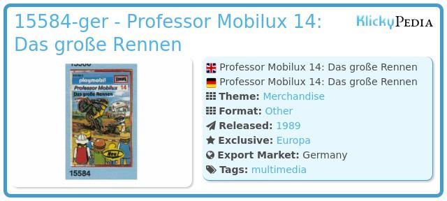 Playmobil 15584-ger - Professor Mobilux 14: Das große Rennen