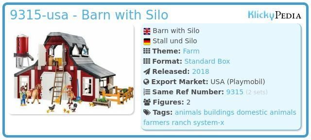Playmobil 9315-usa - Barn with Silo