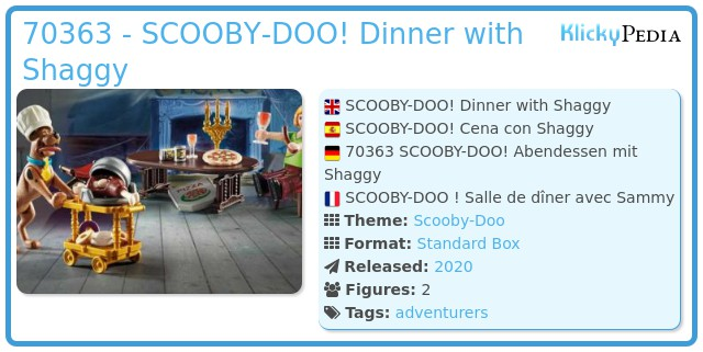 Playmobil 70363 - SCOOBY-DOO ! Feast with Samy