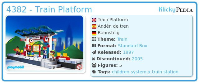 Playmobil 4382 - Train Platform.