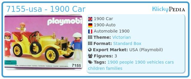 Playmobil 7155-usa - 1900 Car