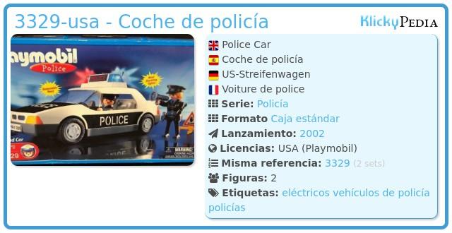 Playmobil 3329-usa - Coche de policía