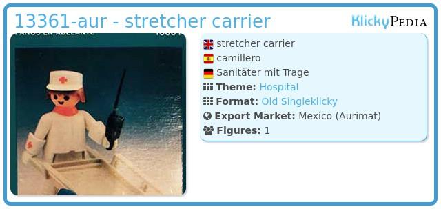 Playmobil 13361-aur - stretcher carrier